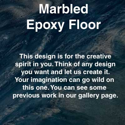 Marbled Epoxy Floor